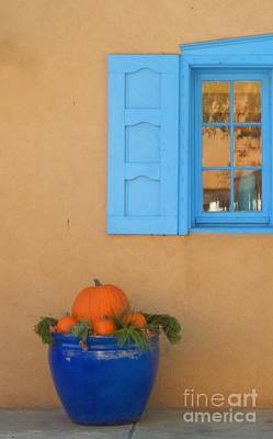 Blue Pot And Window Art Print