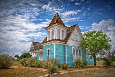 Photograph - Blue Prairie Church by Linda Unger