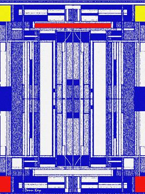 Blue Print Art Print by Donn Kay