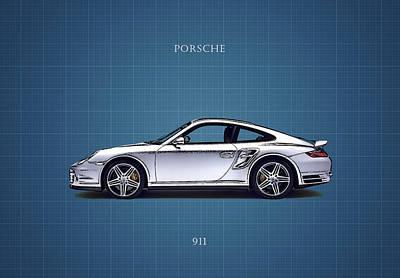 Wall Art - Photograph - Blue Print Porsche 911 by Mark Rogan