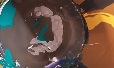 Painting - Blue Prong Headbutt by Gyula Julian Lovas