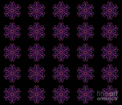Digital Art - Blue, Purple And Red Mandala by Tracey Everington