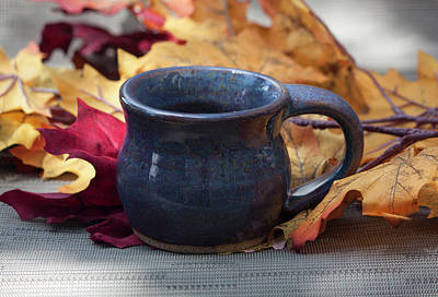 Photograph - Blue Purple Mug by Suzanne Gaff