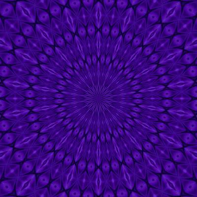 Digital Art - Blue Purple Ultraviolet Solar Spirit by Tracey Harrington-Simpson