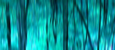 Blue Rain Forest Art Print by Lucie Lenzket