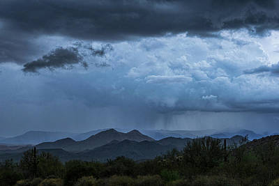 Photograph - Blue Rain  by Saija Lehtonen