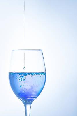 Photograph - Blue Raindrops by Elvira Pinkhas