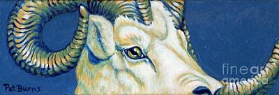 Art Print featuring the painting Blue Ram by Pat Burns