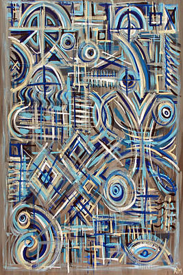 Painting - Blue Raucous by Paul Moss