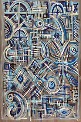 Blue Raucous Art Print