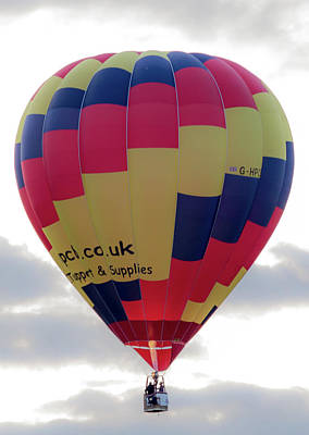 Photograph - Blue, Red And Yellow Hot Air Balloon by Scott Lyons