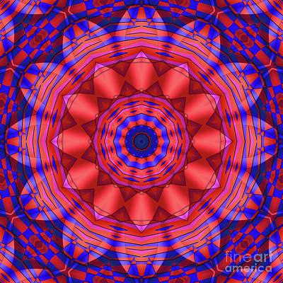 Photograph - Blue Red Kaleidoscope by Ludek Sagi Lukac