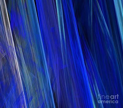 Digital Art - Blue Reeds by Kim Sy Ok
