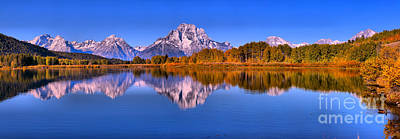 Photograph - Blue Reflections At Oxbow Bend by Adam Jewell