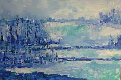 Painting - Blue Reflections by Joy Fahey