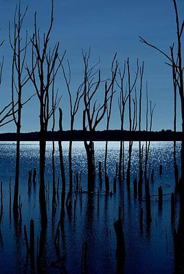 Blue Reservoir - Manasquan Reservoir Art Print