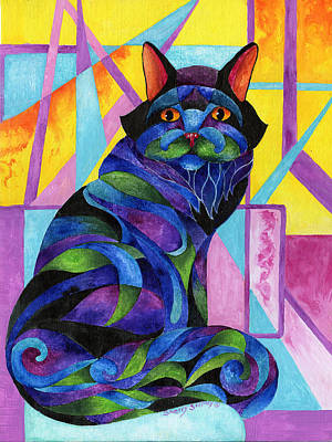 Blue Rhapsody Art Print by Sherry Shipley