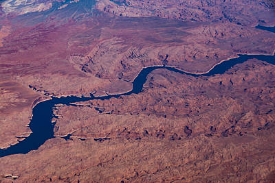 Photograph - Blue Ribbon - The Colorado River Across The Mojave Desert by Georgia Mizuleva