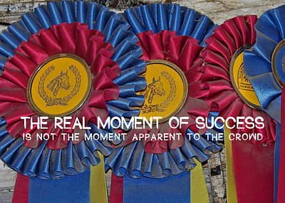 Photograph - Blue Ribbons Quote by JAMART Photography