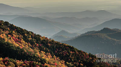 Asheville Wall Art - Photograph - Blue Ridge Autumn by DiFigiano Photography