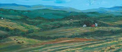 Blue Ridge Black Cows Art Print by Pete Maier