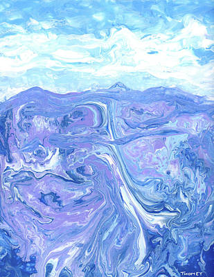 Painting - Blue Ridge Blue Geology 1.0 by Catherine Twomey