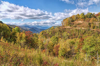 Photograph - Blue Ridge Colors by John M Bailey