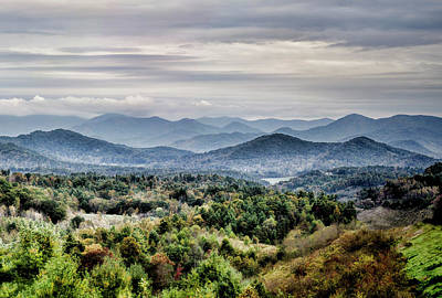 Photograph - Blue Ridge Cropped by Heather Applegate