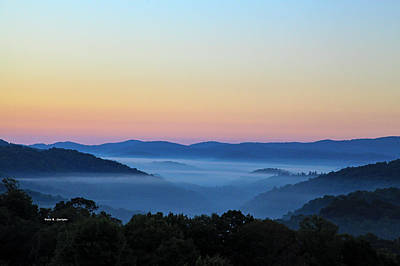 Blue Ridge Dawn Art Print by Dale R Carlson