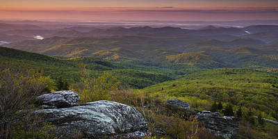 Wilderness Photograph - Blue Ridge Dawn Panorama by Andrew Soundarajan
