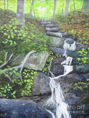 Painting - Blue Ridge Falls by Anne Marie Brown