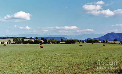 Photograph - Blue Ridge Hay Farm by D Hackett
