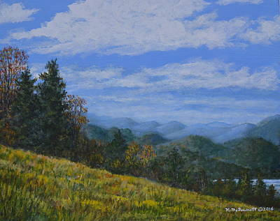 Smokey Mountains Painting - Blue Ridge Impression by Kathleen McDermott