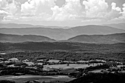Photograph - Blue Ridge Layers by Alan Raasch