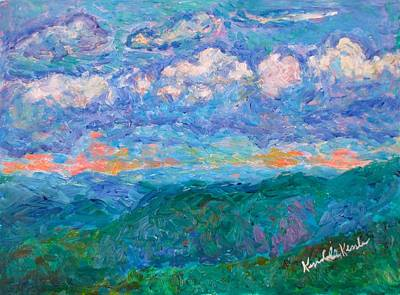 Painting - Blue Ridge Magic From Sharp Top Stage One by Kendall Kessler