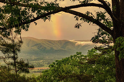 Photograph - Blue Ridge Misty Mountain Rainbow by Lara Ellis