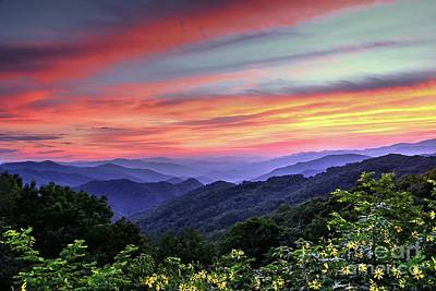 Blue Ridge Mountain Color Art Print