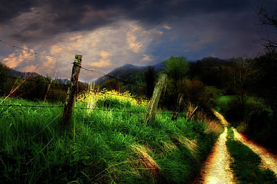 Art Print featuring the photograph Blue Ridge Mountain Country Road by Gray  Artus