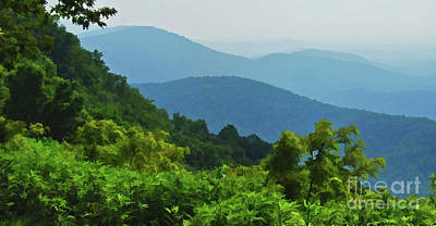 Blue Ridge Mountain Layers Art Print