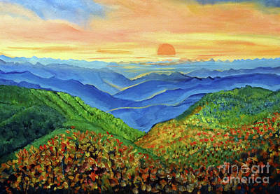 Painting - Blue Ridge Mountain Morn by Ecinja Art Works