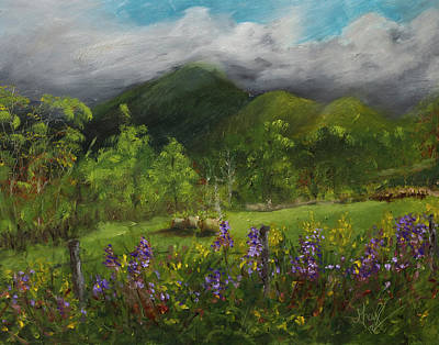 Painting - Blue Ridge Mountain Summer Landscape Painting by Gray Artus