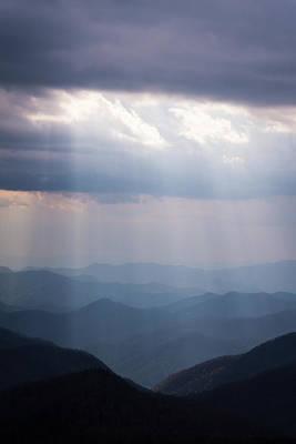 Photograph - Blue Ridge Mountain Sun Ray by Serge Skiba