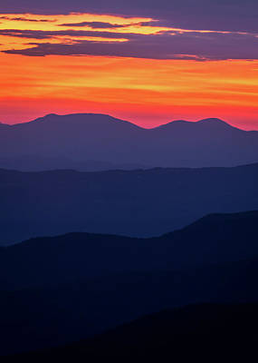 Photograph - Blue Ridge Mountain Sun Rise by Serge Skiba