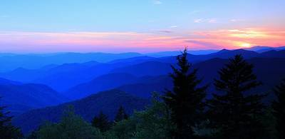 Photograph - Blue Ridge Mountain Sunset by Carol Montoya