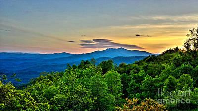 Blowing Rock Nc Photograph - Blue Ridge Mountain Sunset by Christy Ricafrente