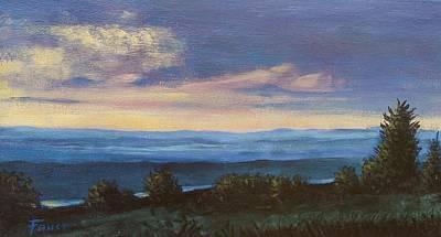 Painting - Blue Ridge Mountain Sunset by Gene Foust
