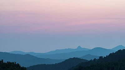 Blue Ridge Mountains After Sunset Art Print