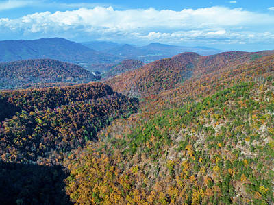 Photo Royalty Free Images - Blue Ridge Mountains in Fall Royalty-Free Image by Star City SkyCams