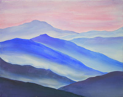 Painting - Blue Ridge Mountains by Iryna Goodall