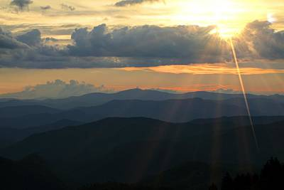 Photograph - Blue Ridge Mountains Majesty by Carol Montoya